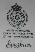 Royal Worcester EVESHAM GOLD PATTERN Rectangular Baking Dish MADE IN ENGLAND image 6