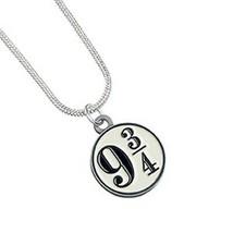 Harry Potter Silver Plated Platform 9 3/4 Necklace - $14.95