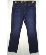 New York & CO Womens Sz 10 Jeans Mid Rise Straight Stretch Dark Wash Whi... - $14.85