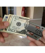 Set of 2 Money Clips w/ 9 Problem Solving Multi Tools  Silver   BN4 - $29.09