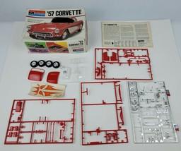 Vintage 1977 Monogram #2227 '57 Corvette Red Model Kit Scale 1/24 Parts ... - $18.69