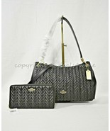 Coach F76721 Small Mia Shoulder Bag OR Coach F75802 Wallet with Quilting... - $179.00+