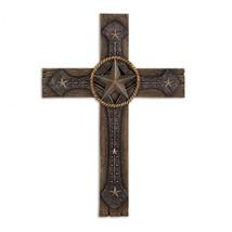 Wall Art Cross, Polyresin Rustic Crosses Wall Decor Plaque - $23.99