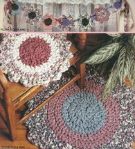 McCall's Creates Flower Patch: crochet a flower shaped rag rug, swag, co... - $14.22