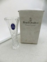 """Royal Doulton Gemini - 5"""" crystal bud Vase - made in Poland, with Box - $6.93"""