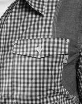 Orisue Noir Blanc Vichy Pittsburgh Manches Longues Tissé Bouton Bas T-Shirt Nwt image 3