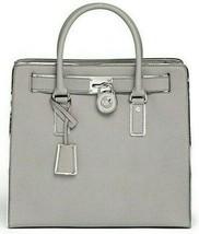 Michael Kors Hamilton Specchio Large Pearl Grey Silver Ns Tote Bag $398 Nwt! - $298.00