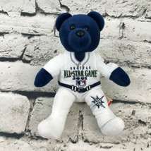 Team Bears Seattle Mariners Teddy Bear Plush Blue 2001 All-Star Game Soft Toy - $9.89