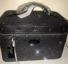 Victoria's Secret Glitter Mesh Runway Vanity Train Case Makeup Bag~ BLACK - $47.33