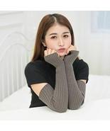 Women Winter Long Gloves Arm Warmers Cotton Blend Fingerless Warm Mitten... - $10.55