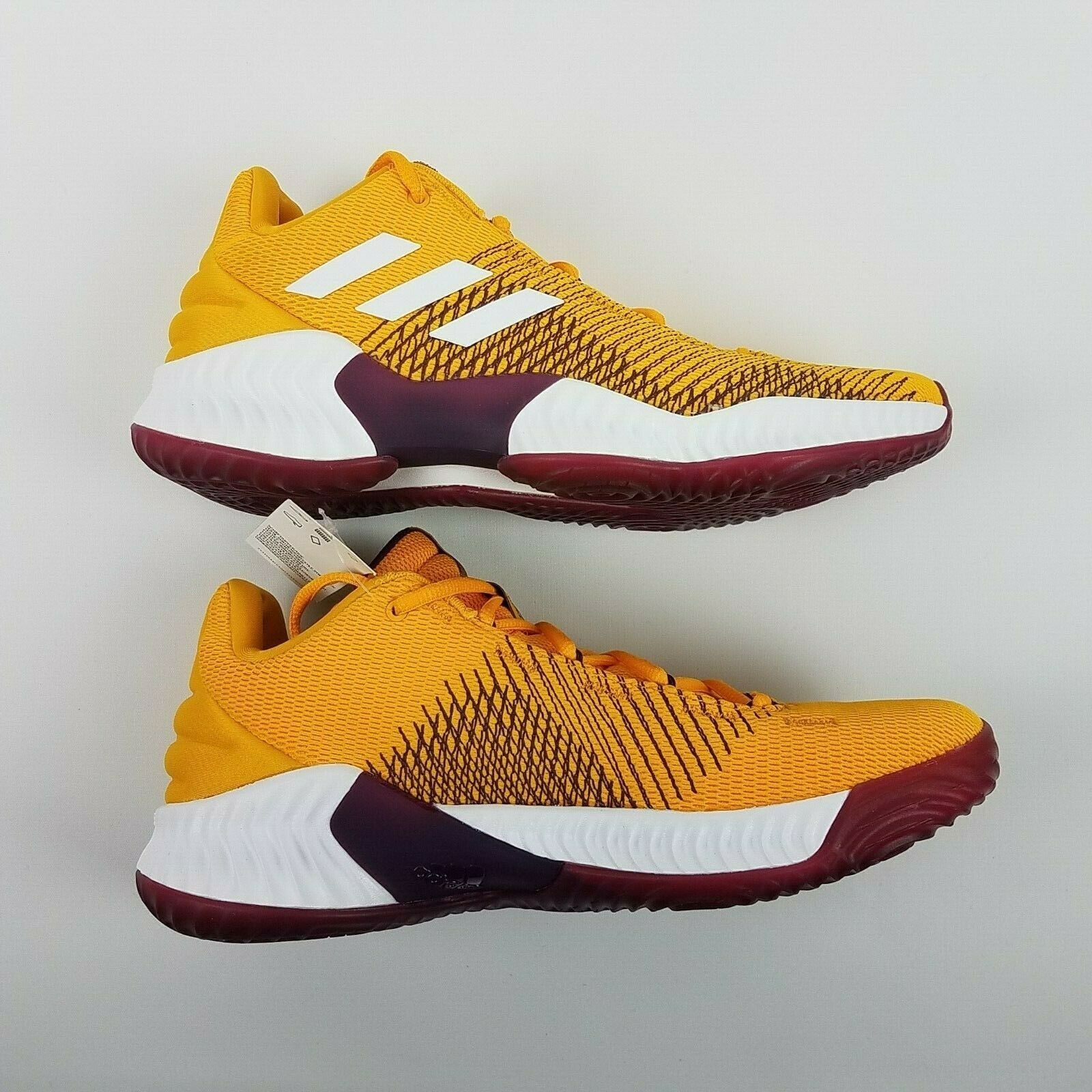 adidas Mens Pro Bounce 2018 Low ASU Basketball Shoe NCAA B41866 Size 9 image 5