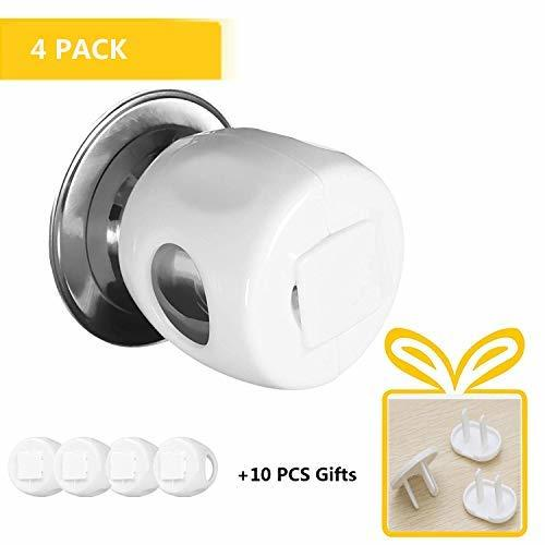 SAIBANG Baby Door Knob Safety Covers, 4 Packs Child Proof Door Knob Covers Unive