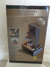 Tiered Serenity LED Fountain (#1190) Made by The Newport Coast Collection - $28.99