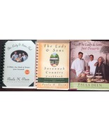 Paula Deen's 3 Cookbook Lot Lady Two Sons 1 and 2  Desserts HC DJ - $32.62
