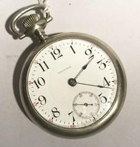 Vintage Estate American Waltham 17 Jewel Railroad Dial Pocket Watch L256 - $240.81