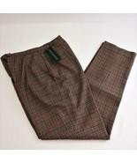 Harve Benard Wool Plaid Fully Lined Womens Dress Pants Sz 10 New - $48.23