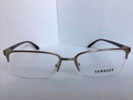 New Versace Mod. 1219 1339 54mm Silver Semi-Rimless  Eyeglasses Italy  - $179.99