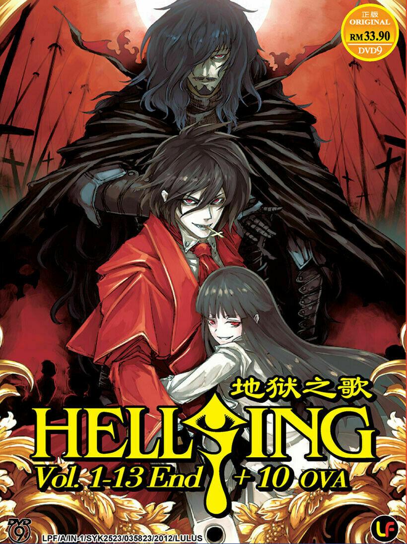 Hellsing  Vol.1-13 End + 10 OVA English Dubbed Ship From USA