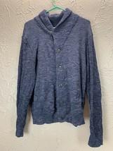 Grayers Reverse Loop Shawl Cardigan Sweater Mens Size large Navy Heather... - $45.21