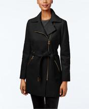 MICHAEL Michael Kors Petite Asymmetrical-Zip Belted Coat MSRP $275.00 - $79.99