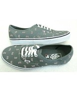 Vans Authentic x MLB Mens Boston Red Sox Grey White Canvas shoes Size 8.... - $59.39