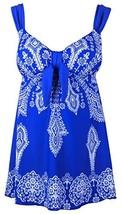 Women's Plus-Size Swimsuit Retro Print Two Piece Pin up Tankini Swimwear... - $26.11