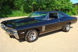 1968 Chevy Impala SS 427 Black 033   24 x 36 INCH   sports car - $18.99