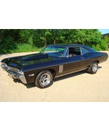 1968 Chevy Impala SS 427 Black 033 | 24 x 36 INCH | sports car - $18.99