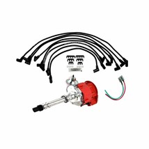 SBC Chevy 283 329 350 383 HEI Distributor Red Super Cap 8mm SPARK PLUG WIRES