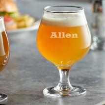 Personalized Belgian Tulip Beer Glasses, 13 oz, Laser Engraved - $25.99