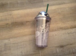 Starbucks Limited Edition 16oz Frappuccino Cold Cup Tumbler 2013 Chrome ... - $9.46