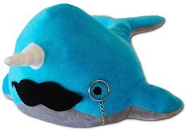 Cute Blue Narwhal Stuffed Animal Toy for Children Kid Birthday Gift Idea... - €18,26 EUR
