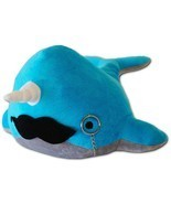Cute Blue Narwhal Stuffed Animal Toy for Children Kid Birthday Gift Idea... - $20.58