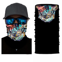 Crazy Cool Color Skull Winter Face Mask Bandanas Headband Multi Headwear... - $4.94