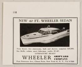 1948 Print Ad Wheeler 40' Sedan Boats Twin Screw New York,NY - $8.75
