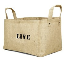 Jute Storage Baskets Collapsible Kids containers Baby Closet (LIVE (V2)) - £6.21 GBP