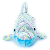 "Dolphin Plush 12"" Sparkly Blue Green Purple Wildlife Artists Stuffed Ani... - $15.70"