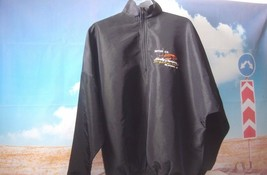JACKET Black Nylon Screamin' Eagle 1/3 Zip Motorcycle Medium Pullover HA... - $42.68