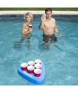 Swim Way Premium Blue Floating Swimming Pool Pong Game and Drink Holder - $35.93