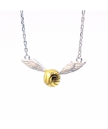 925 Sterling Silver Harry Potter Golden Snitch Quidditch Wings Necklace ... - $22.99