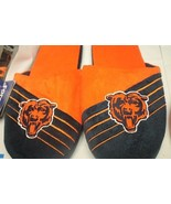 NEW MENS CHICAGO BEARS ORANGE & BLUE SLIPPERS WITH HARD SOLES SIZE 11-12 - $10.65