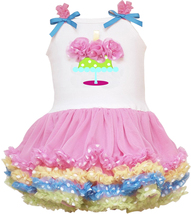 Rare Editions Baby Girl 3M-24M Rosette Birthday Cake Tutu Dress