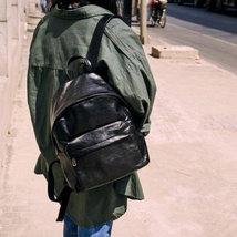 Sale, Full Grain Leather Women Backpack, Handmade Travel Backpack, School Backpa image 5