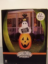 New Gemmy Outdoor Inflatable Halloween Air Blown Yard Decoration Ghost P... - $59.68