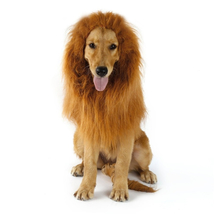 Fancy Dress Up Pet Costume Cat Halloween Clothes Dogs Lion Mane Ears Fes... - €11,32 EUR