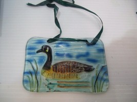 "Canadian Goose Suncatcher Hand Painted Glass 4.5""  Home Decor - $12.86"