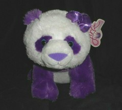 "11"" GIRLZ NATION AURORA PURPLE PANDA BEAR W BOW STUFFED ANIMAL PLUSH TOY... - $13.33"