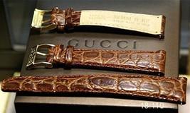 New Gucci 18 MM Dark Brown  Croco Grain Band - 18.110 - $34.95