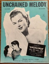 Vintage '55 Film Sheet Music UNCHAINED MELODY Original of Righteous Brot... - $4.00