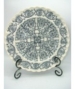 Rome Blue Gray by SPODE Antique Individual 10 1/8 in Dinner Plate Scrolls - $13.50